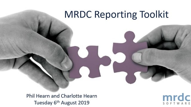 The MRDC Reporting Toolkit