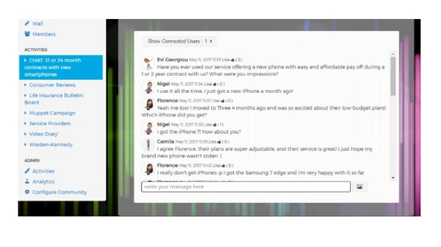 Using the chat features within Communities247