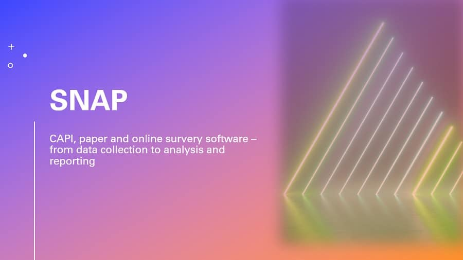Snap presentation - from data collection to reporting
