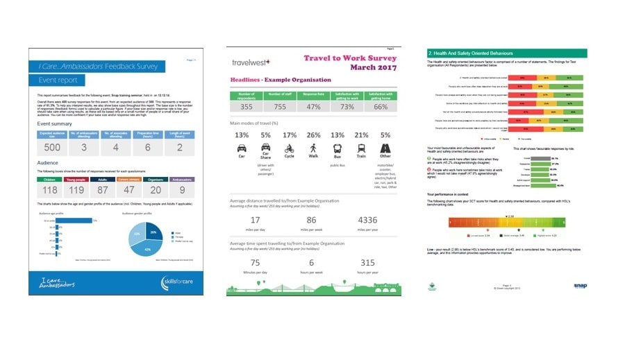Produce smart reports in Snap
