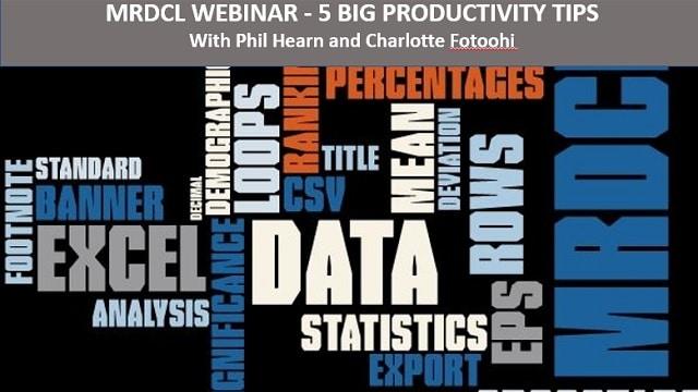 MRDCL 5 big productivity tips