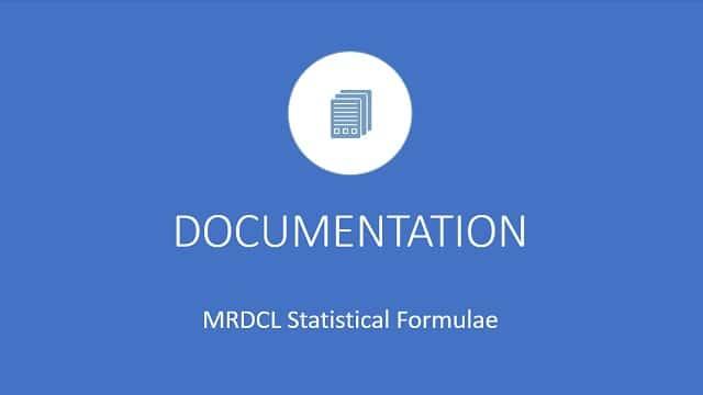 MRDCL Statistical Formulae