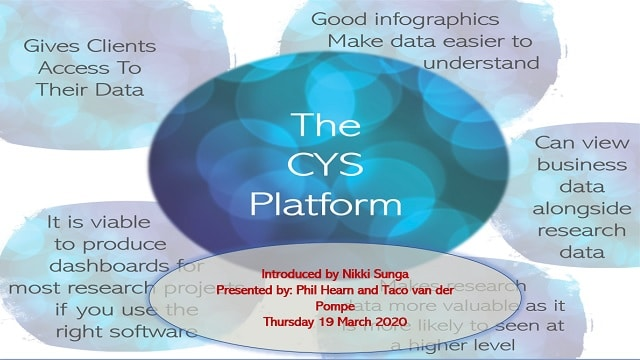 The CYS Platform - data management and data visualisation