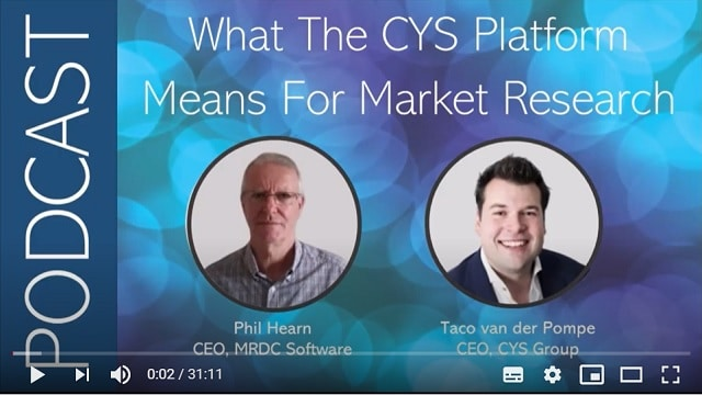 what the cys platform means for market research