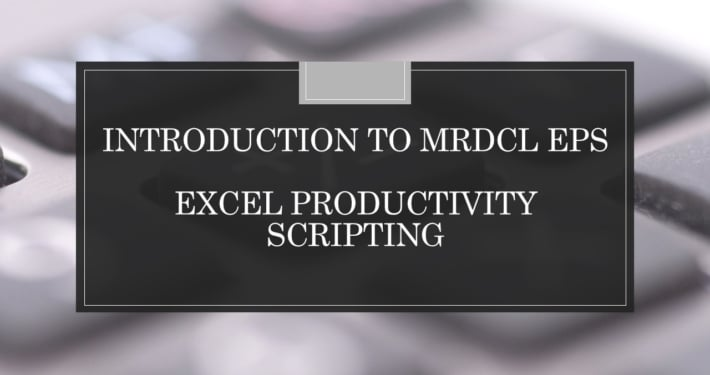 Excely prodcutivity scripting MRDCL