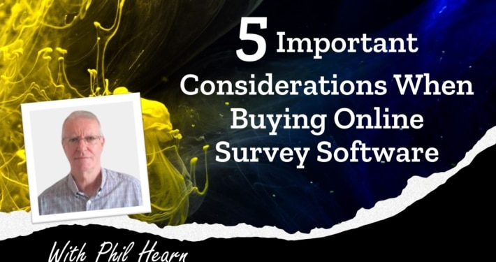 Buying online survey software